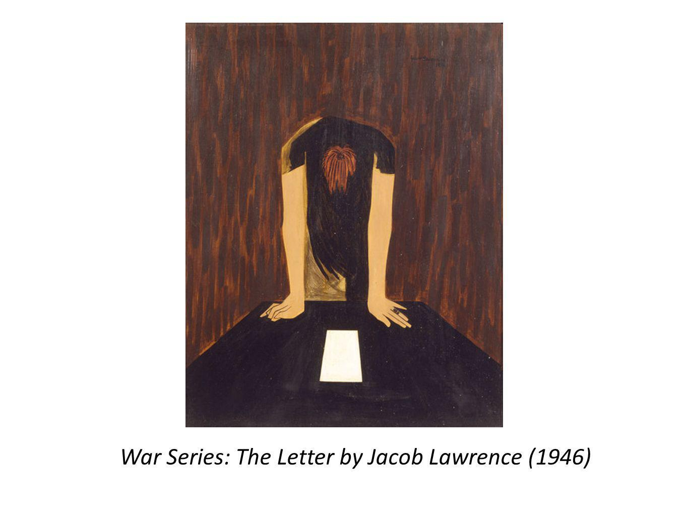 War Series: The Letter by Jacob Lawrence (1946)
