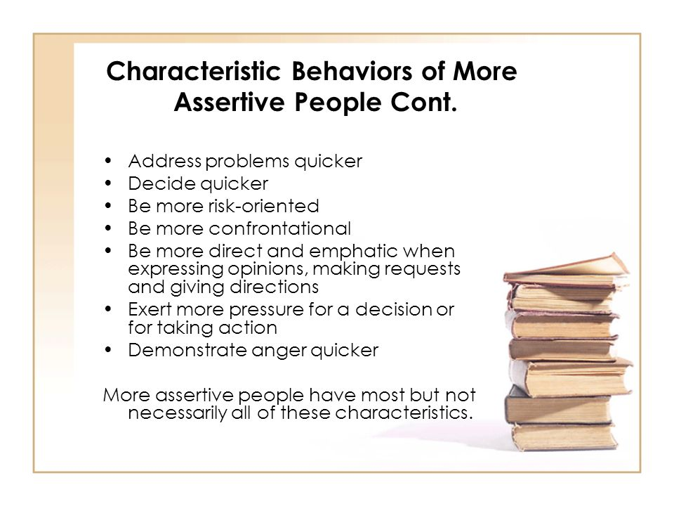 Characteristic Behaviors of More