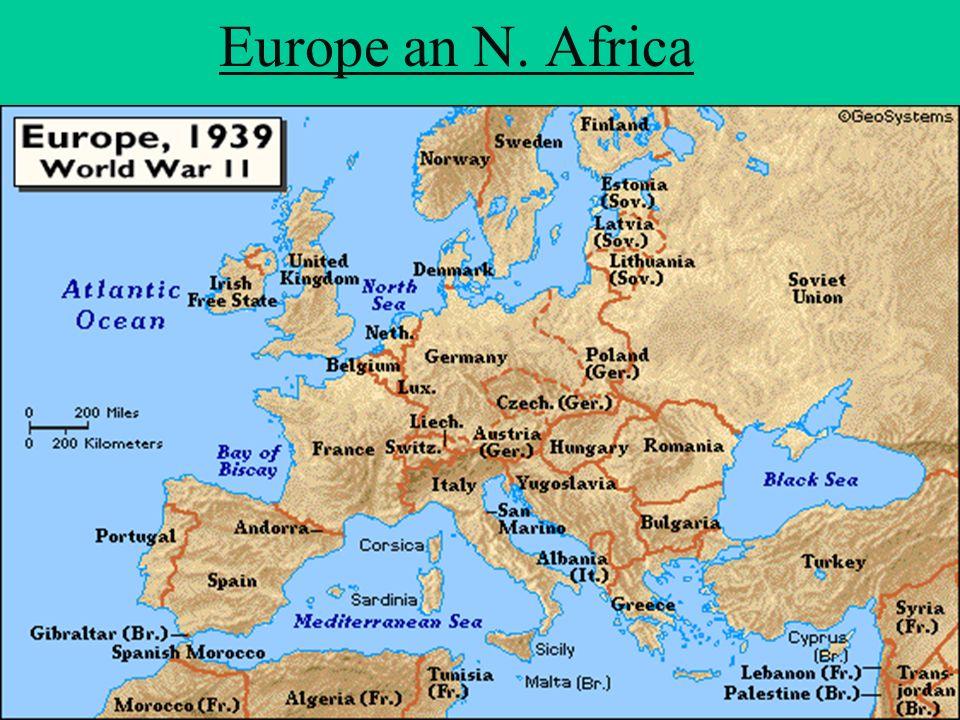 Europe an N. Africa