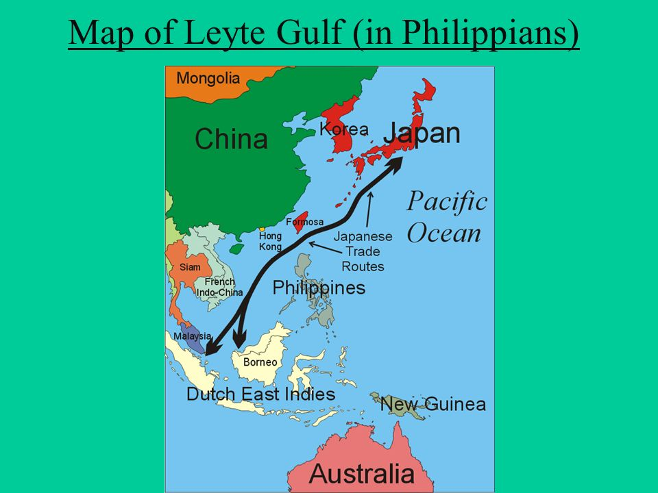 Map of Leyte Gulf (in Philippians)