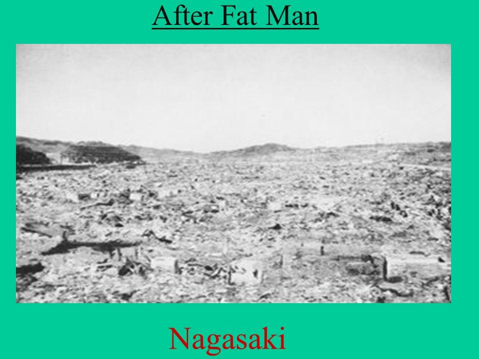 After Fat Man Nagasaki