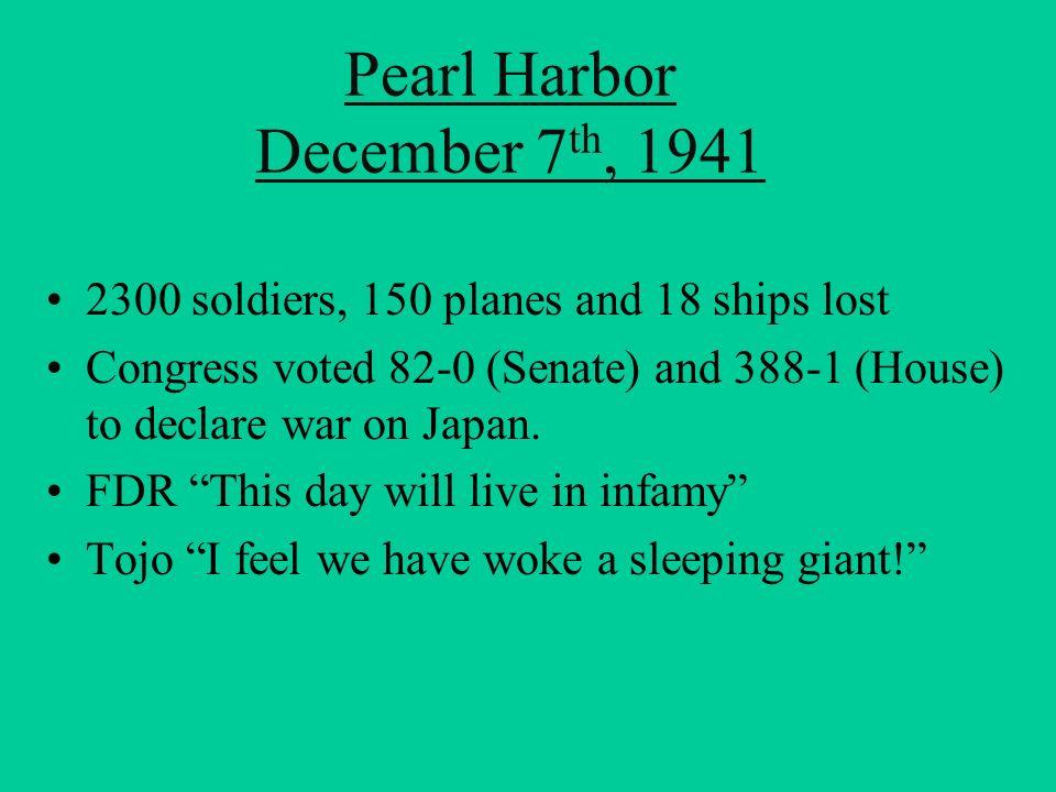 Pearl Harbor December 7th, 1941