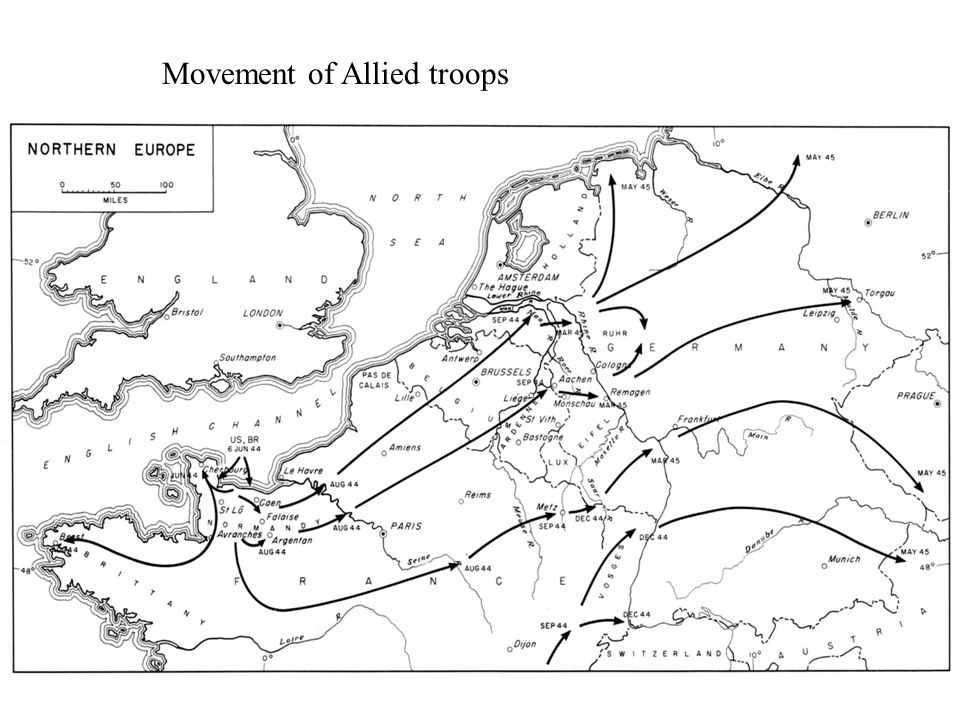Movement of Allied troops