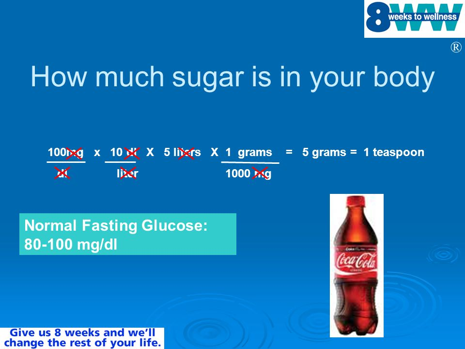 How much sugar is in your body