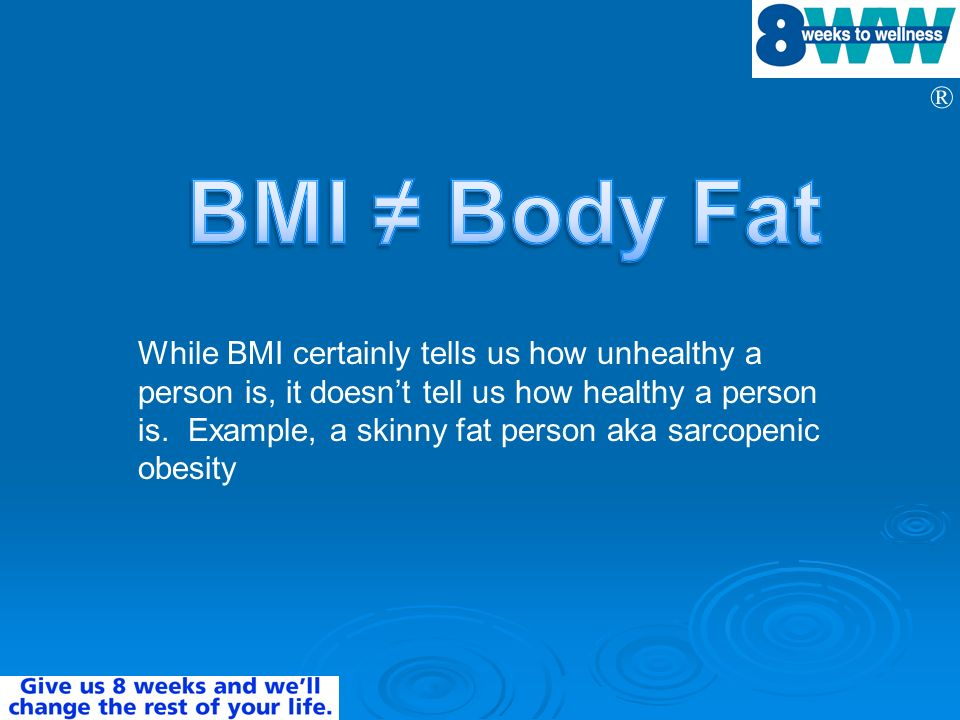 BMI ≠ Body Fat