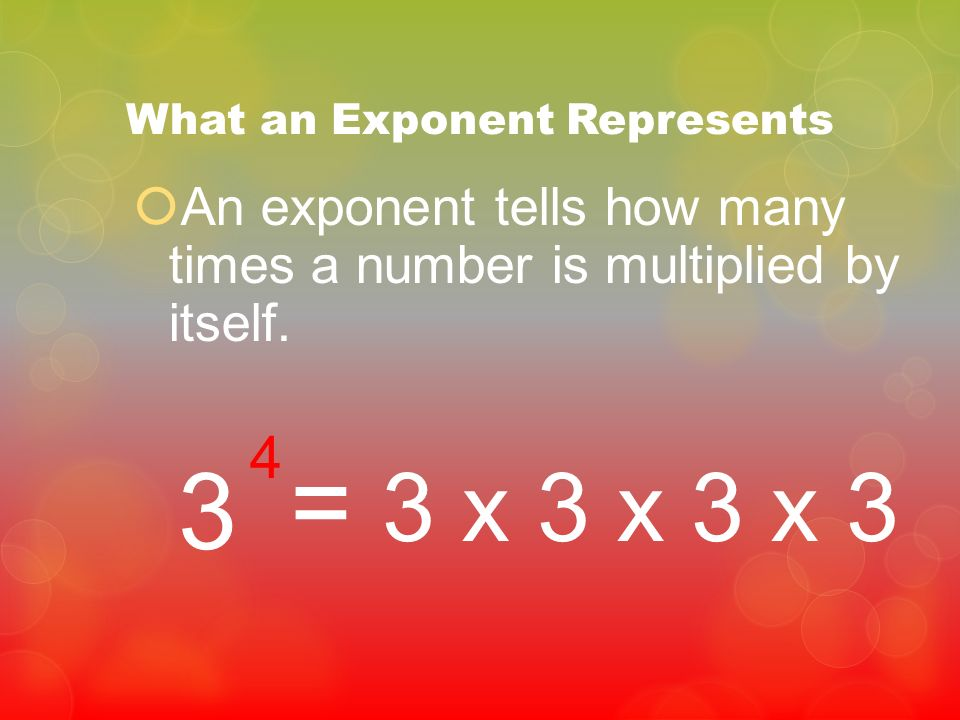 What an Exponent Represents