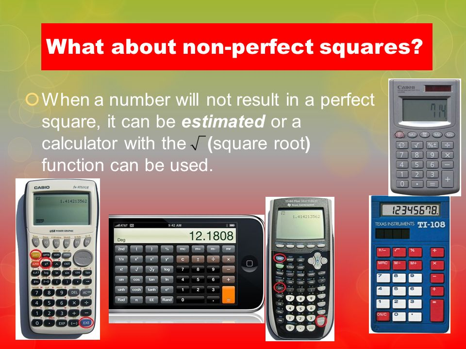 What about non-perfect squares