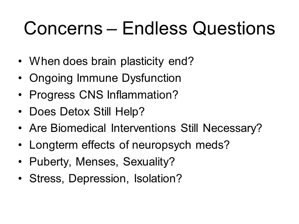 Concerns – Endless Questions