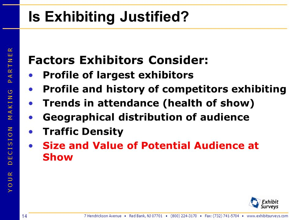 Is Exhibiting Justified