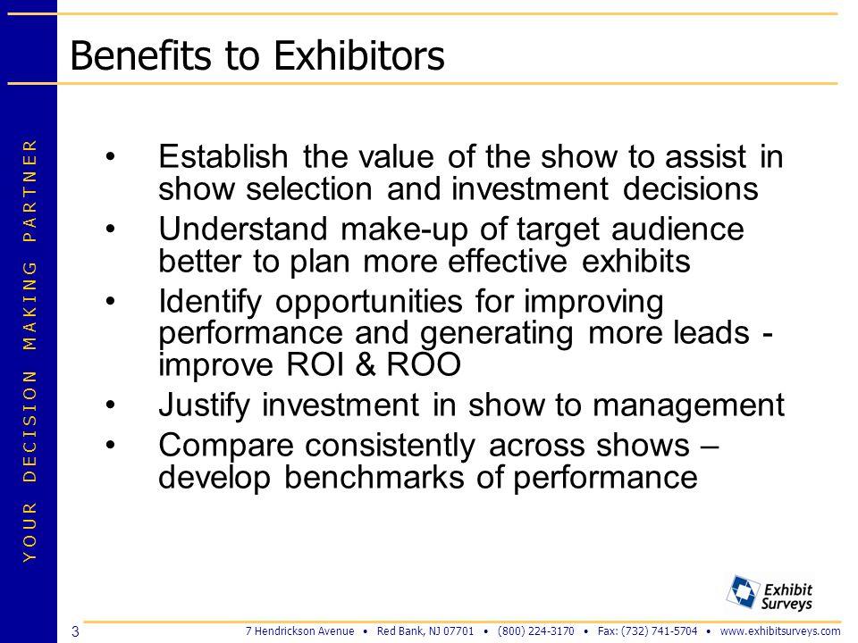 Benefits to Exhibitors