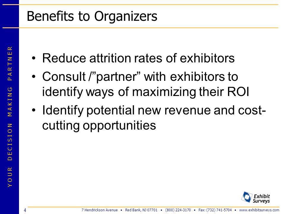 Benefits to Organizers