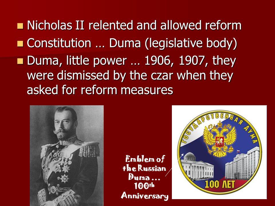 Emblem of the Russian Duma … 100th Anniversary