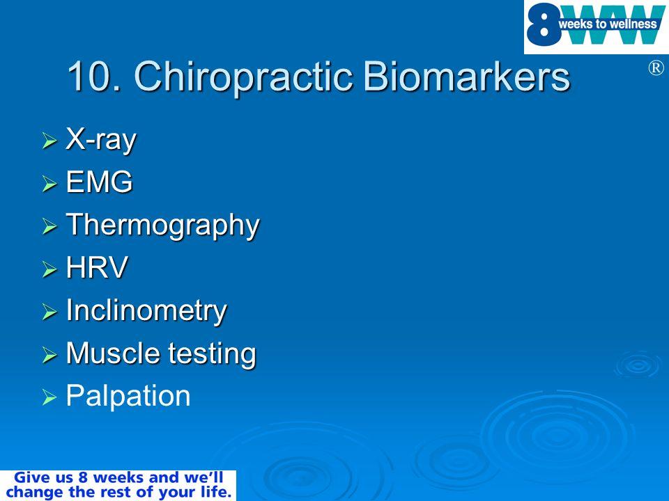10. Chiropractic Biomarkers