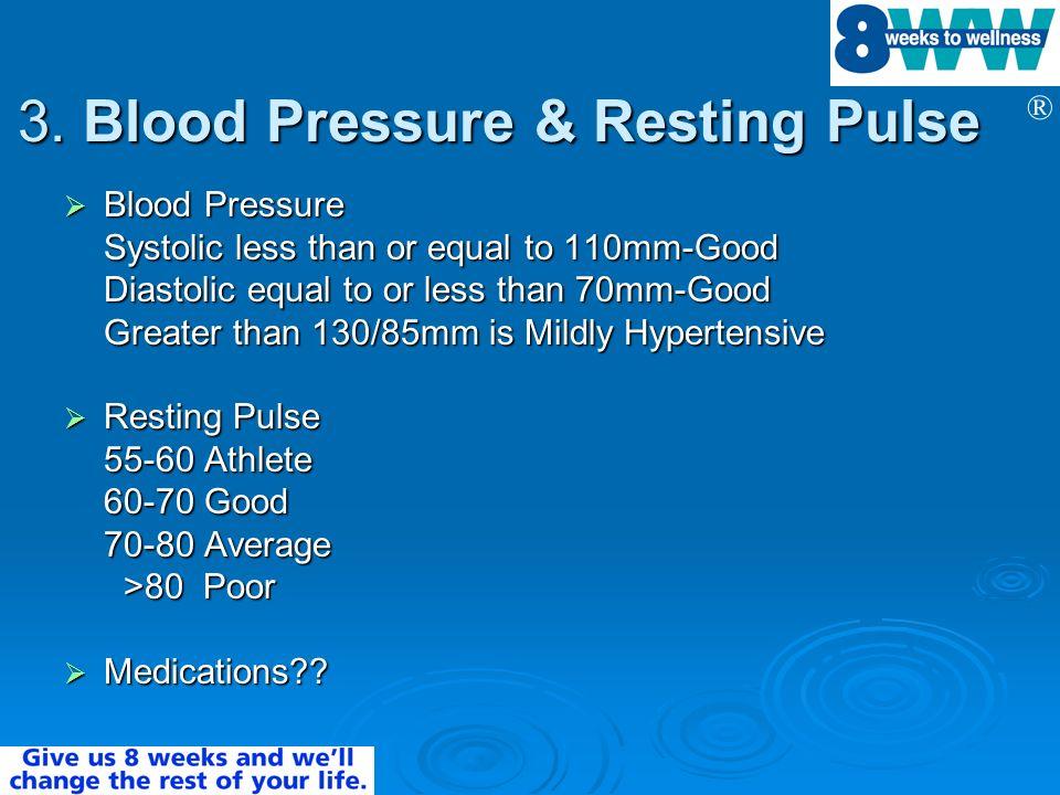 3. Blood Pressure & Resting Pulse