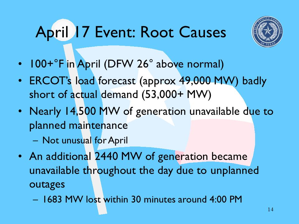 April 17 Event: Root Causes