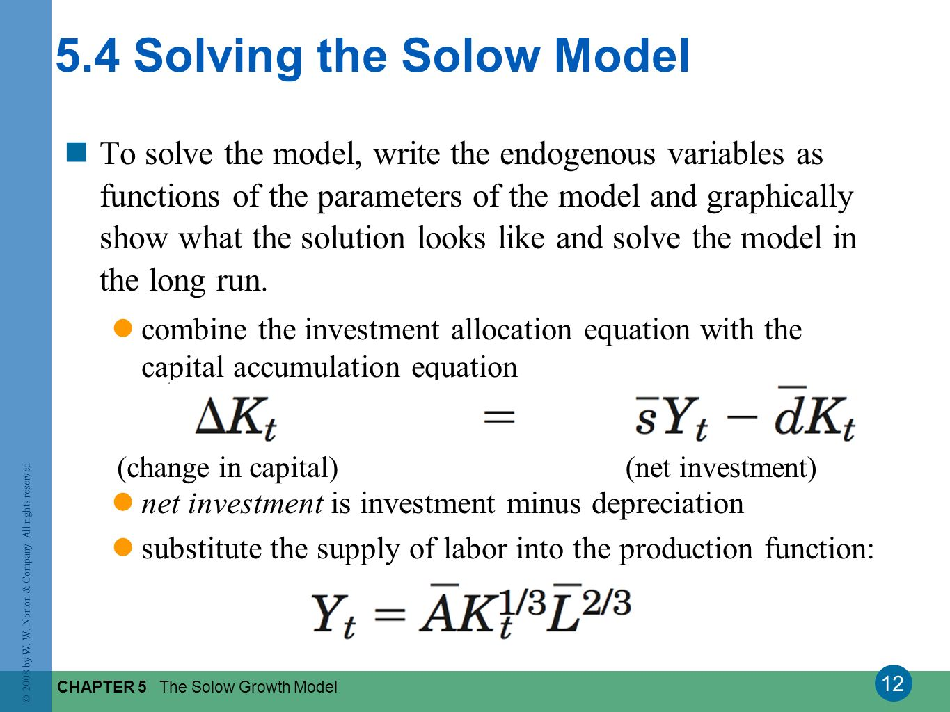 5.4 Solving the Solow Model