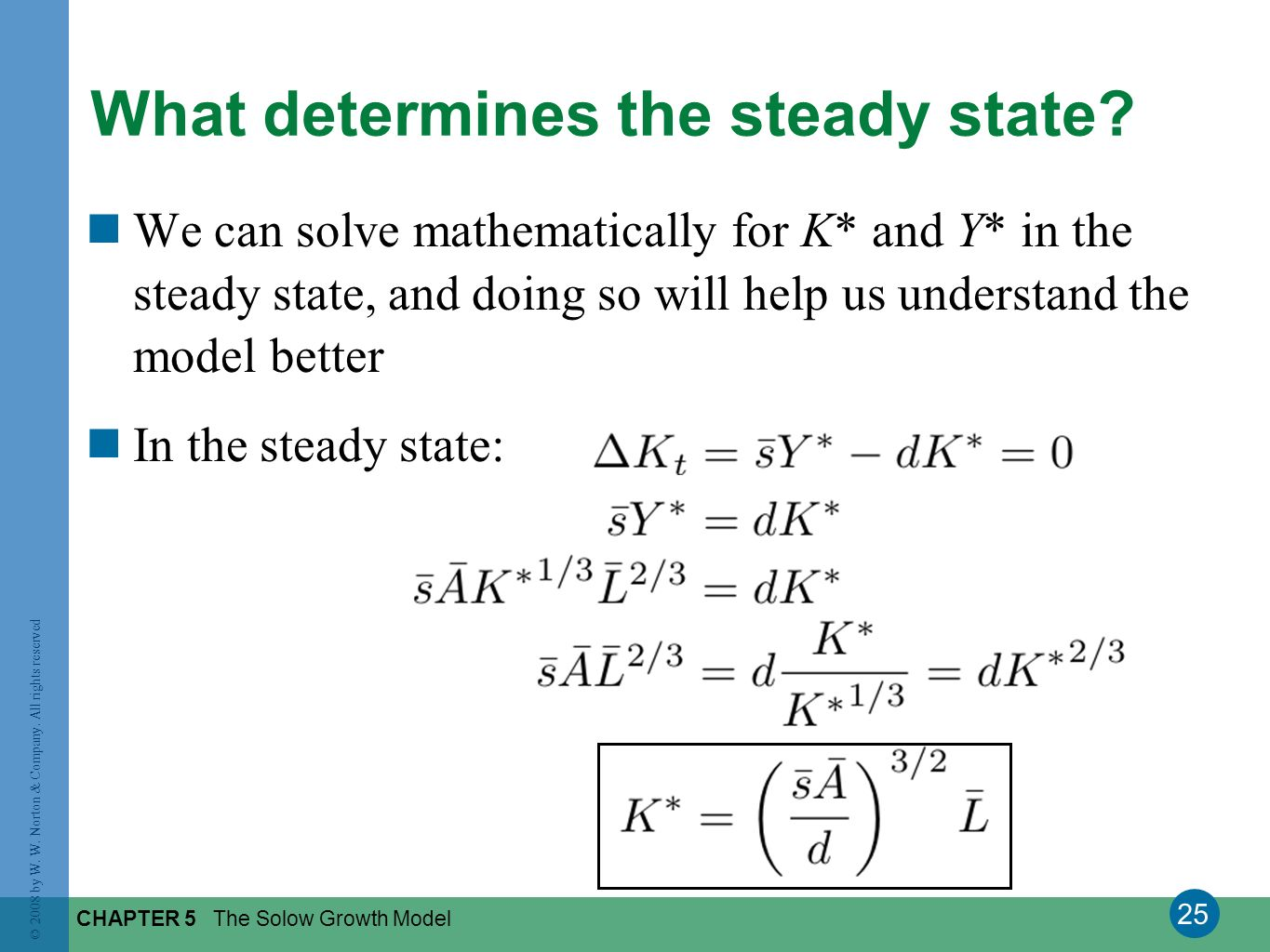 What determines the steady state