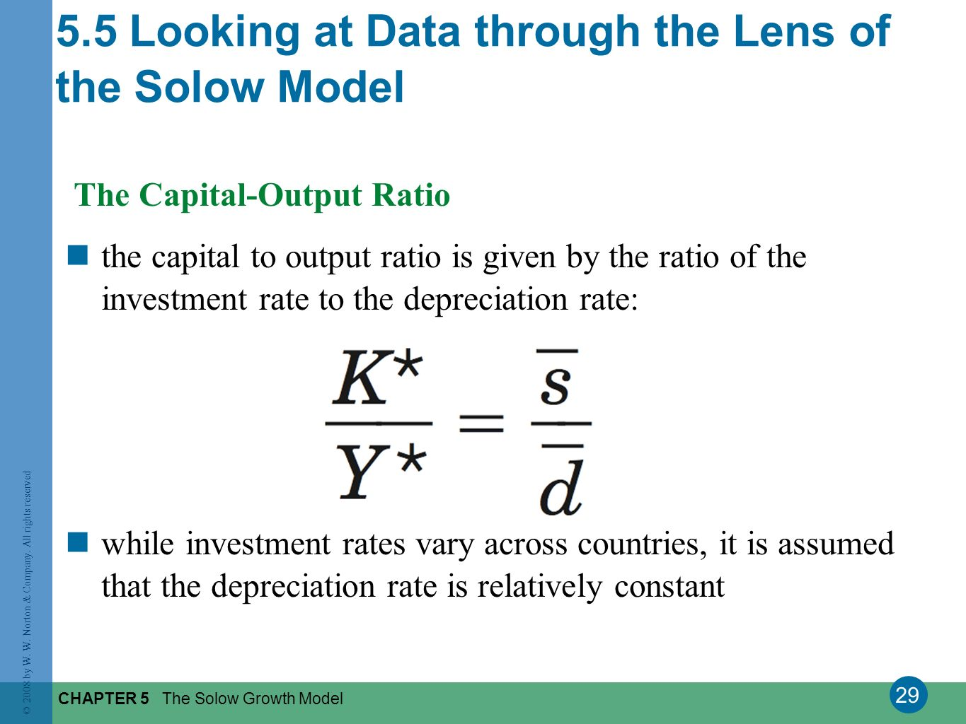 5.5 Looking at Data through the Lens of the Solow Model