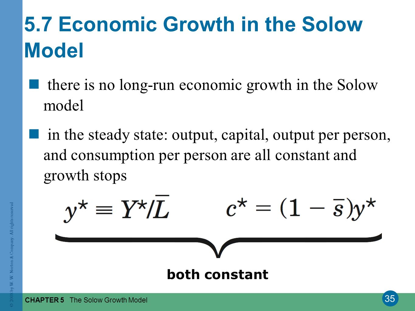 5.7 Economic Growth in the Solow Model