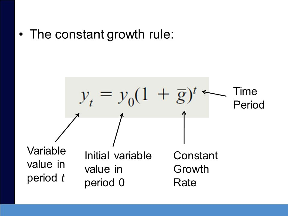 The constant growth rule:
