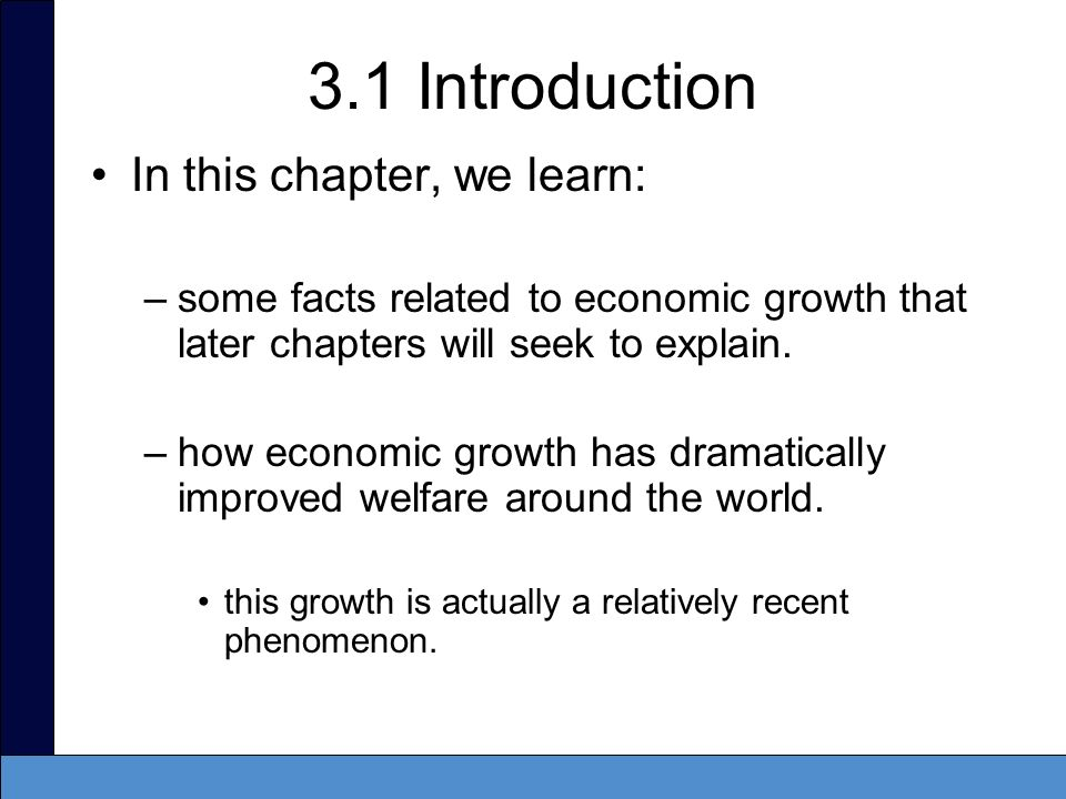 3.1 Introduction In this chapter, we learn: