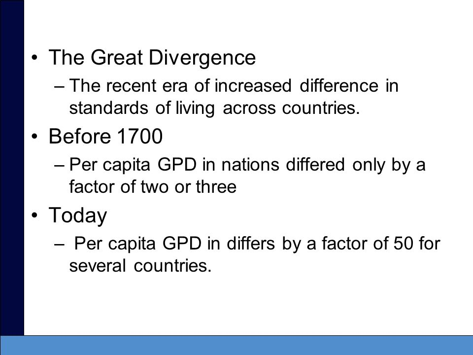 The Great Divergence Before 1700 Today