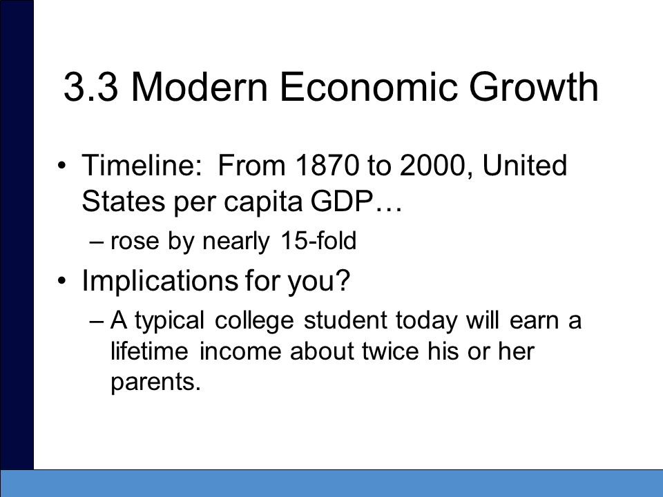 3.3 Modern Economic Growth