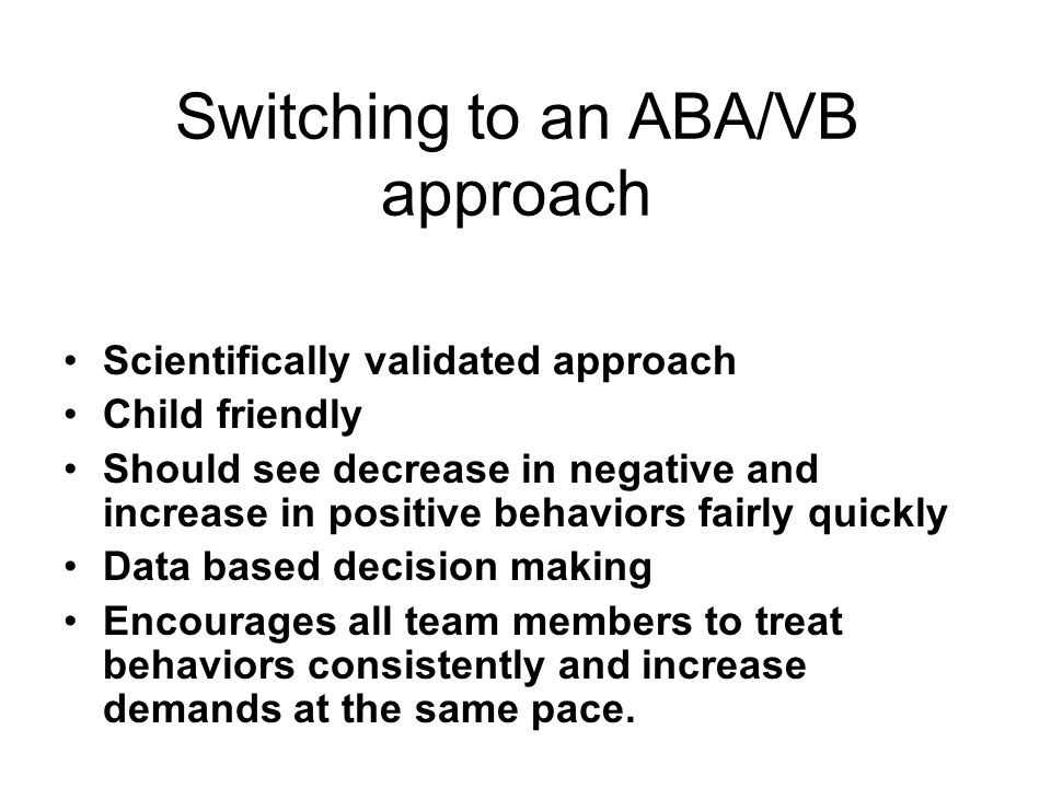 Switching to an ABA/VB approach