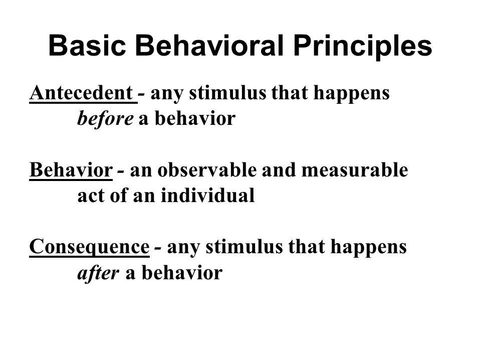Basic Behavioral Principles