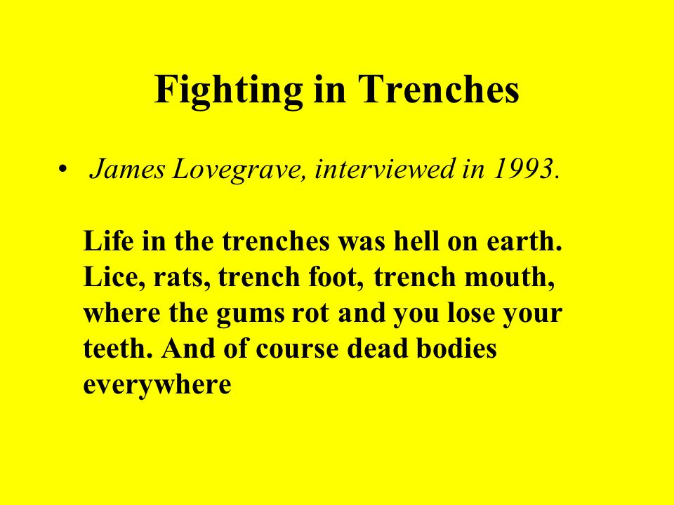 Fighting in Trenches