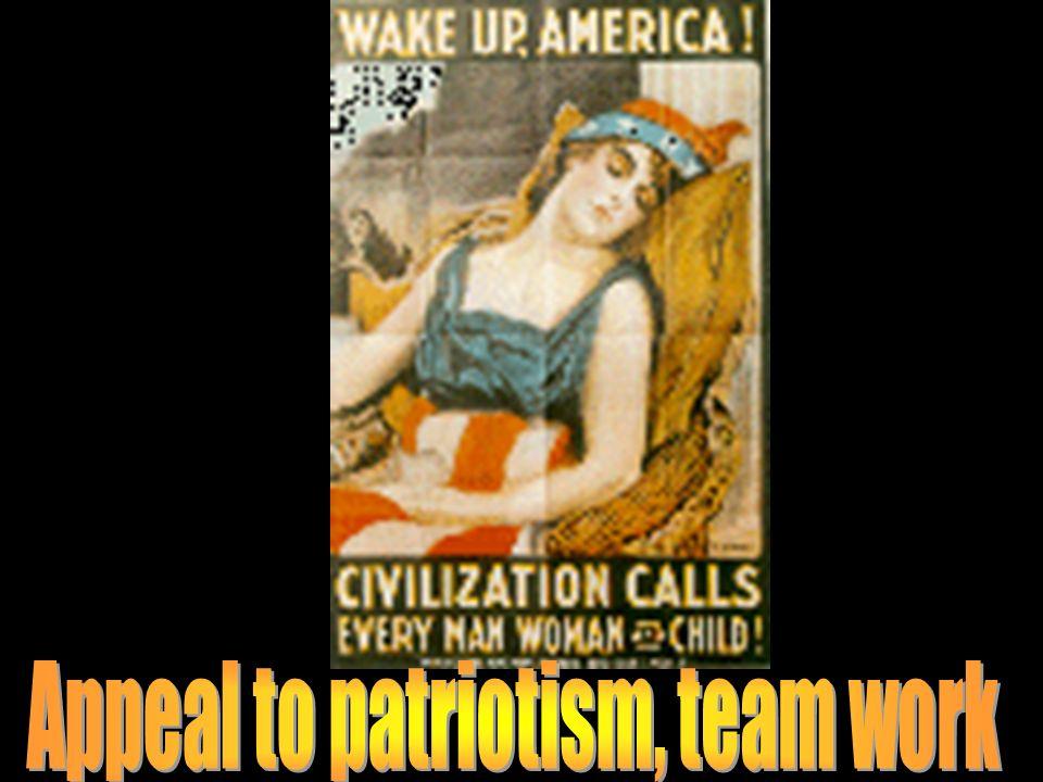 Appeal to patriotism, team work