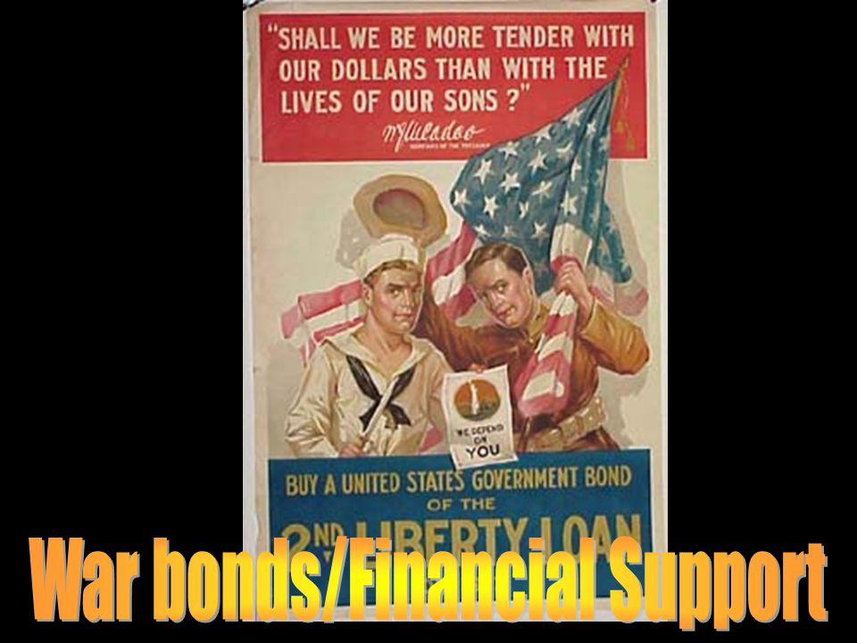 War bonds/Financial Support