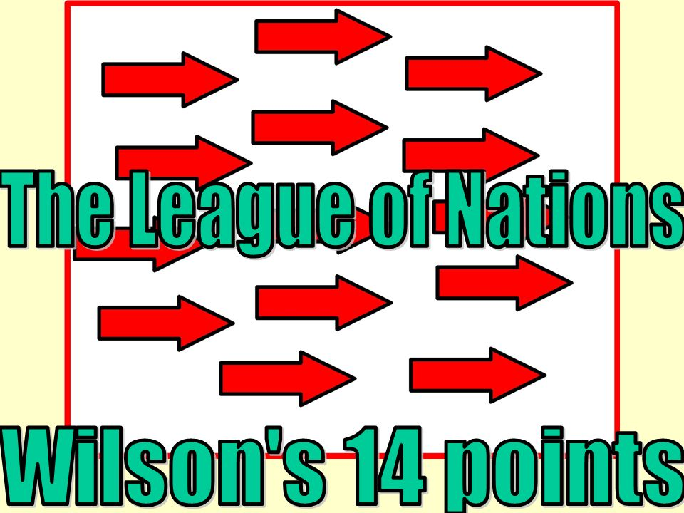 The League of Nations Wilson s 14 points