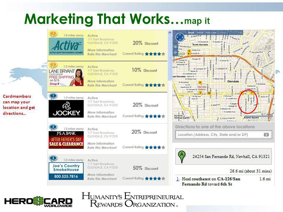 Marketing That Works…map it