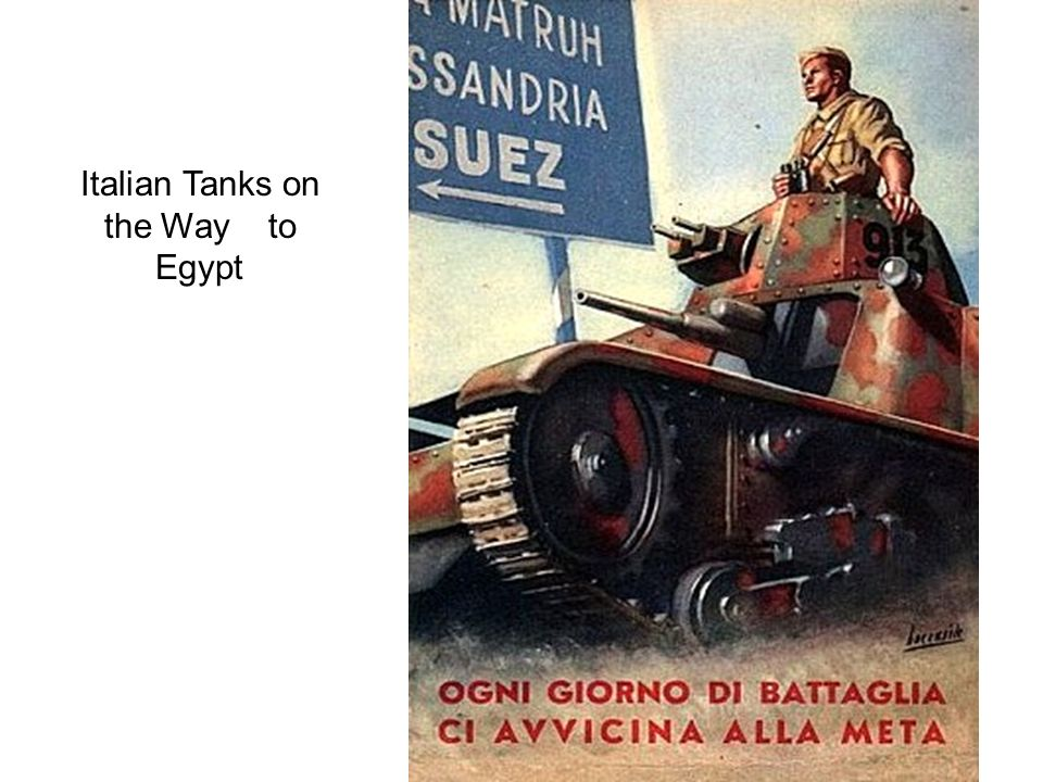 Italian Tanks on the Way to Egypt