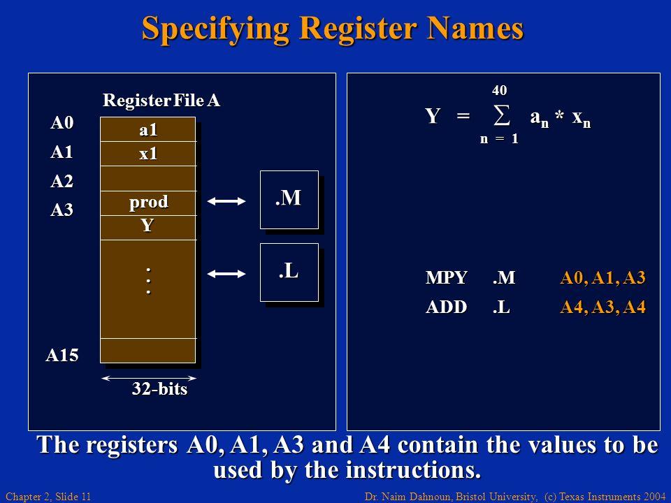 Specifying Register Names