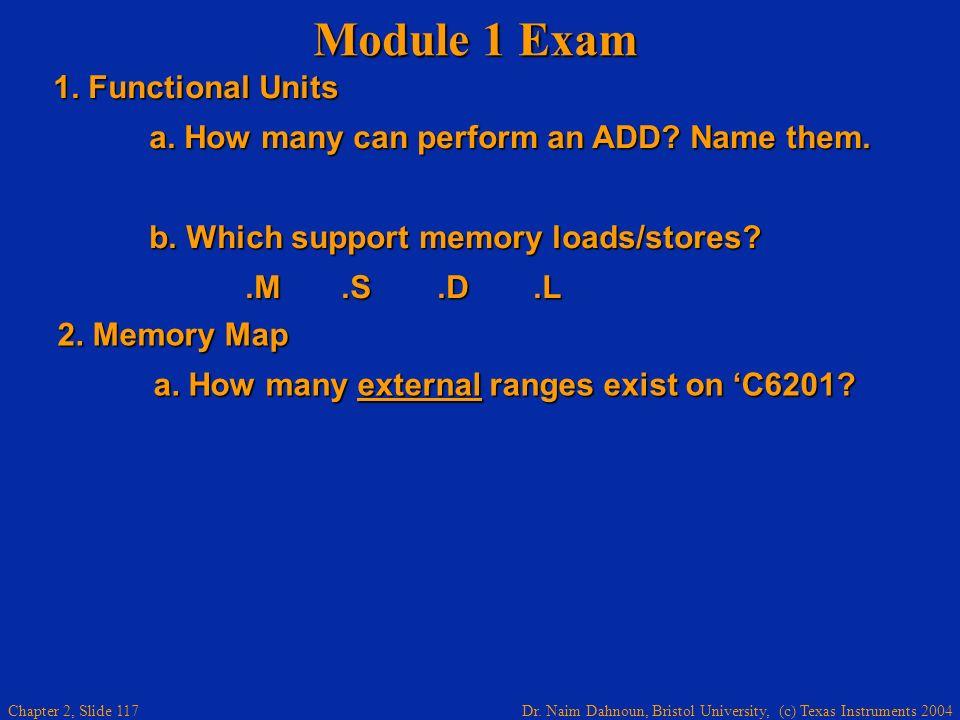 Module 1 Exam 1. Functional Units