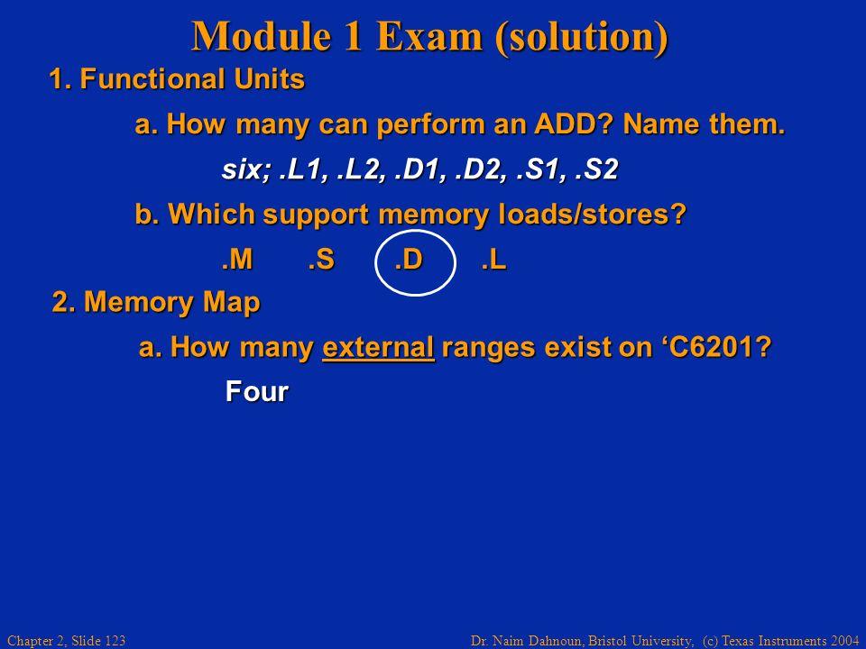 Module 1 Exam (solution)