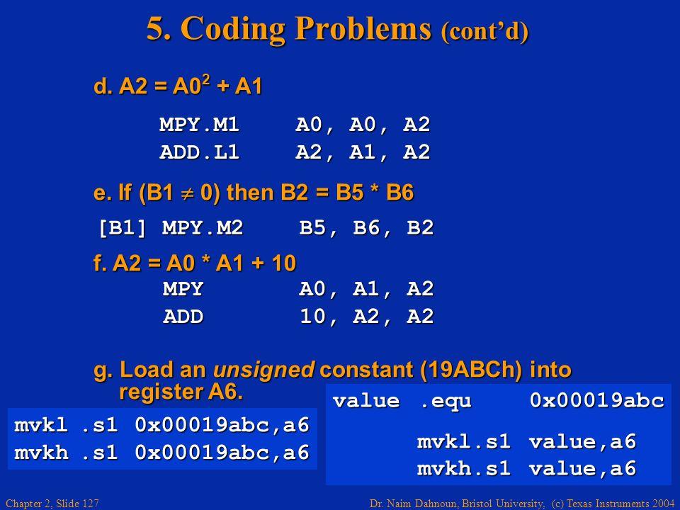5. Coding Problems (cont'd)