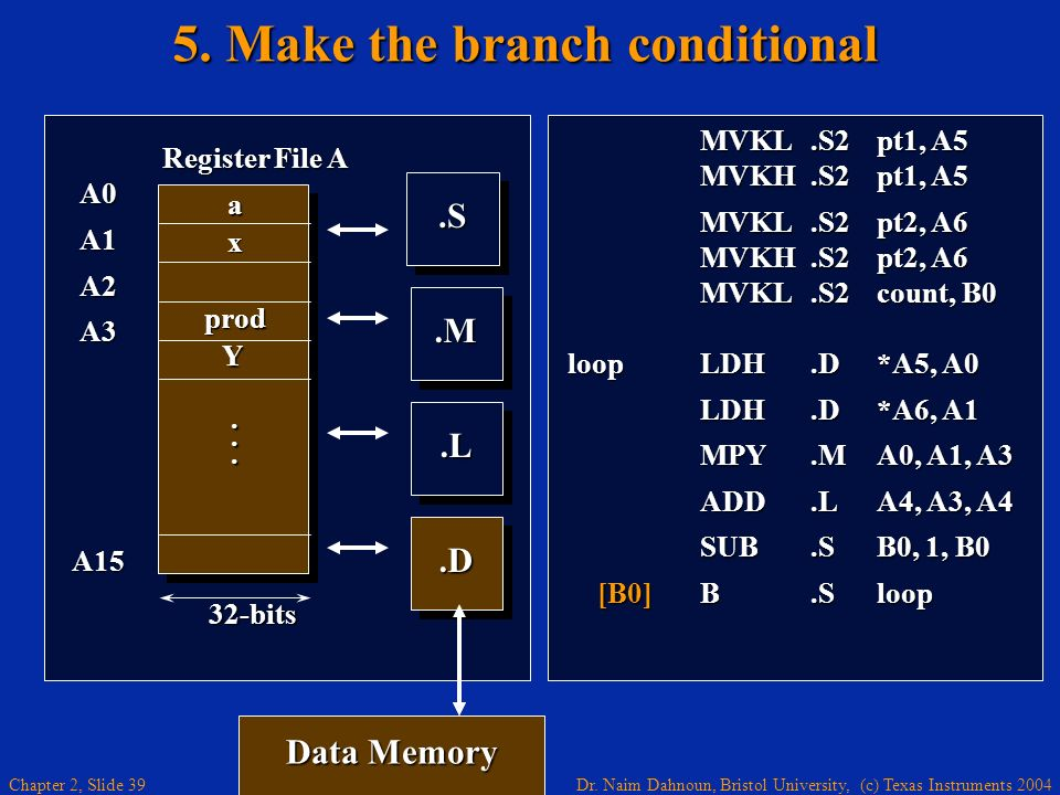 5. Make the branch conditional