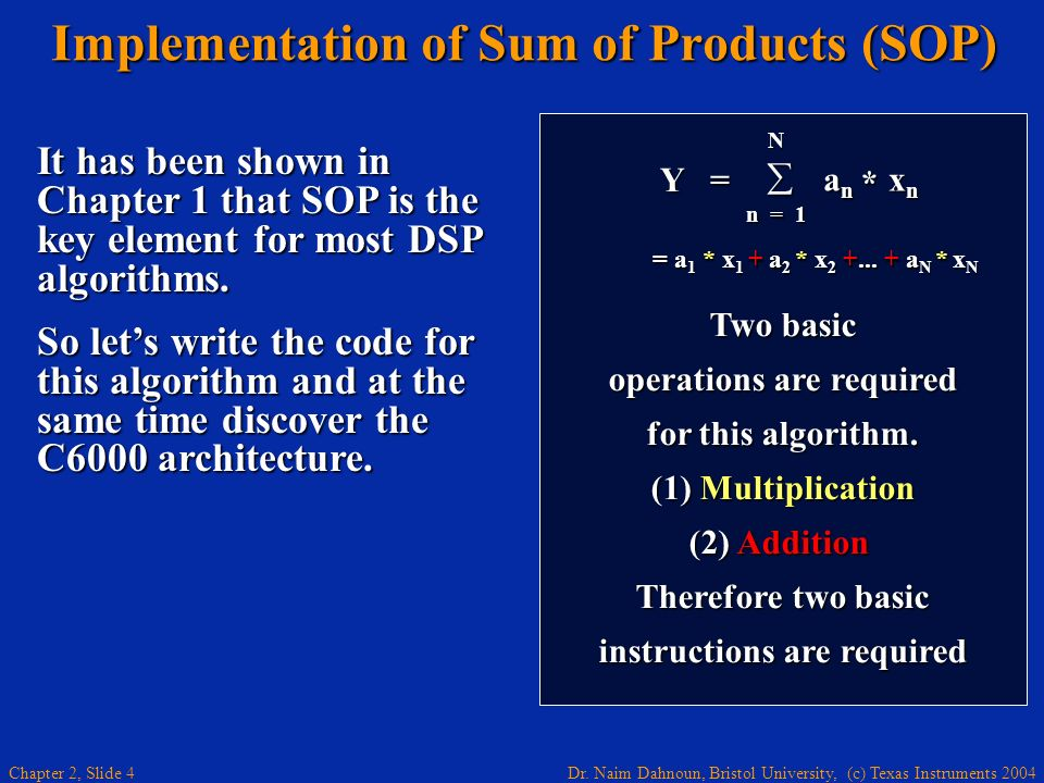 Implementation of Sum of Products (SOP)