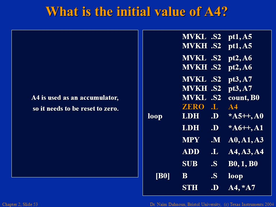 What is the initial value of A4