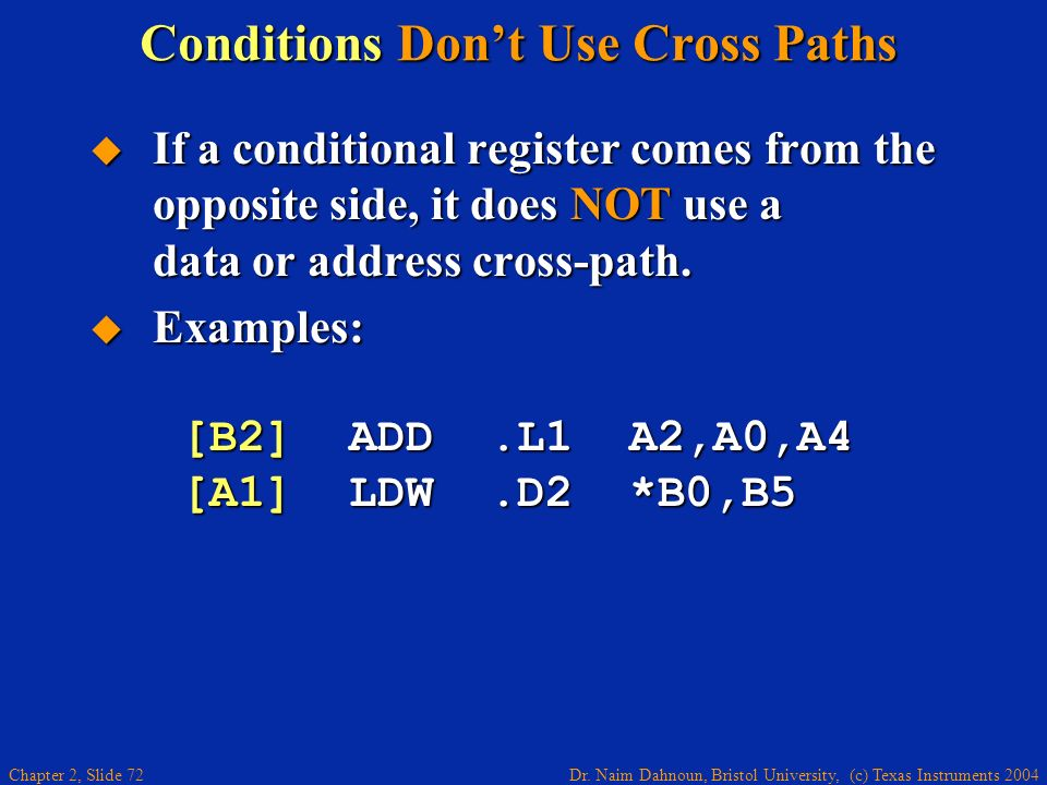 Conditions Don't Use Cross Paths