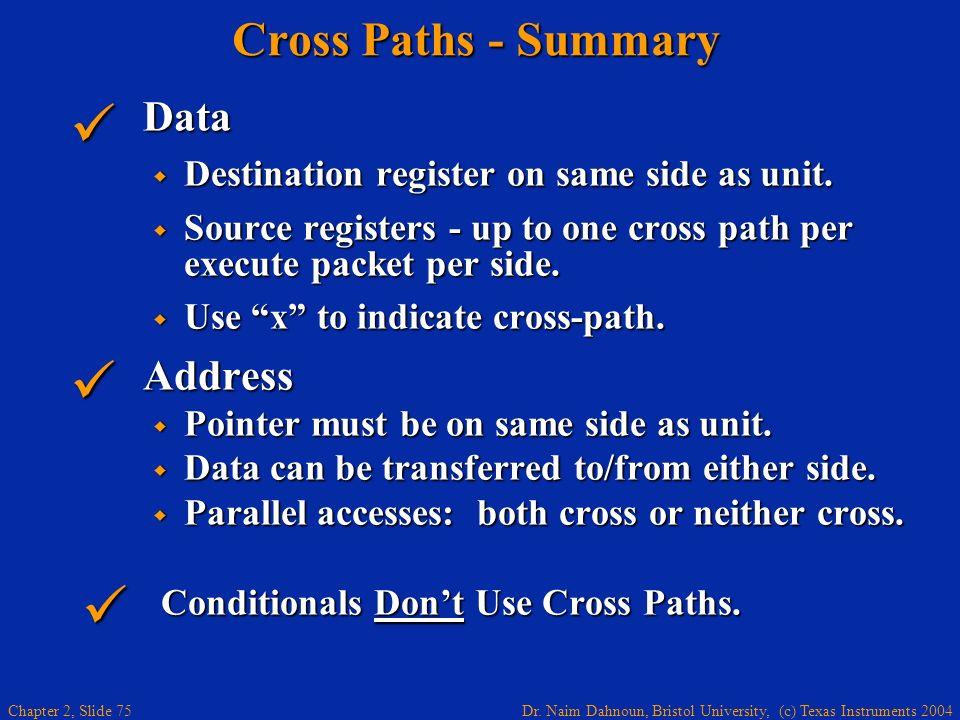 Cross Paths - Summary Data Address