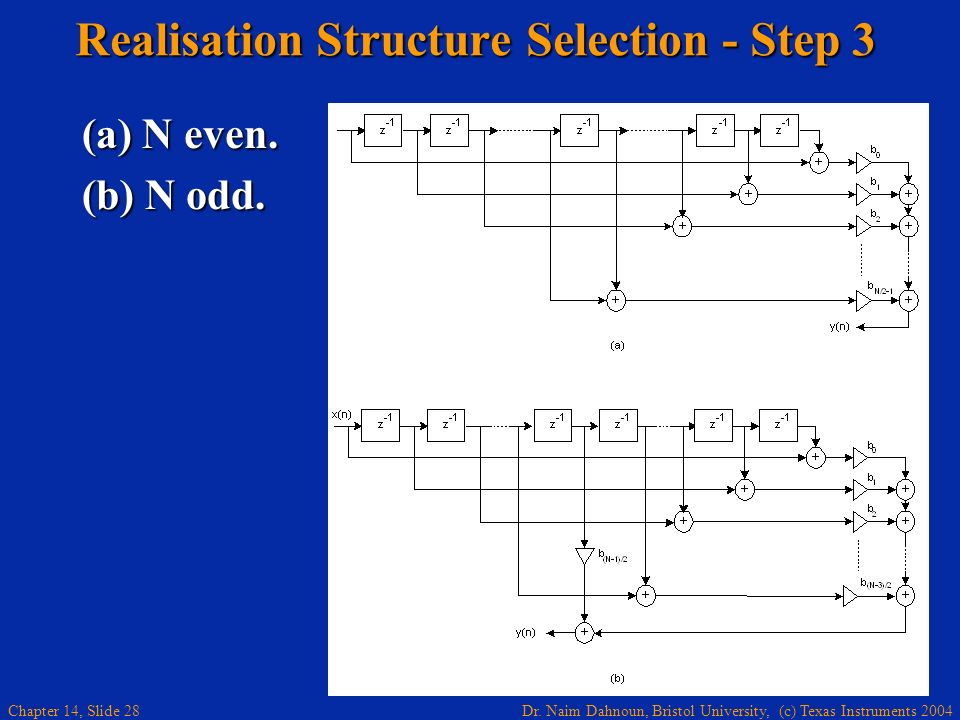 Realisation Structure Selection - Step 3