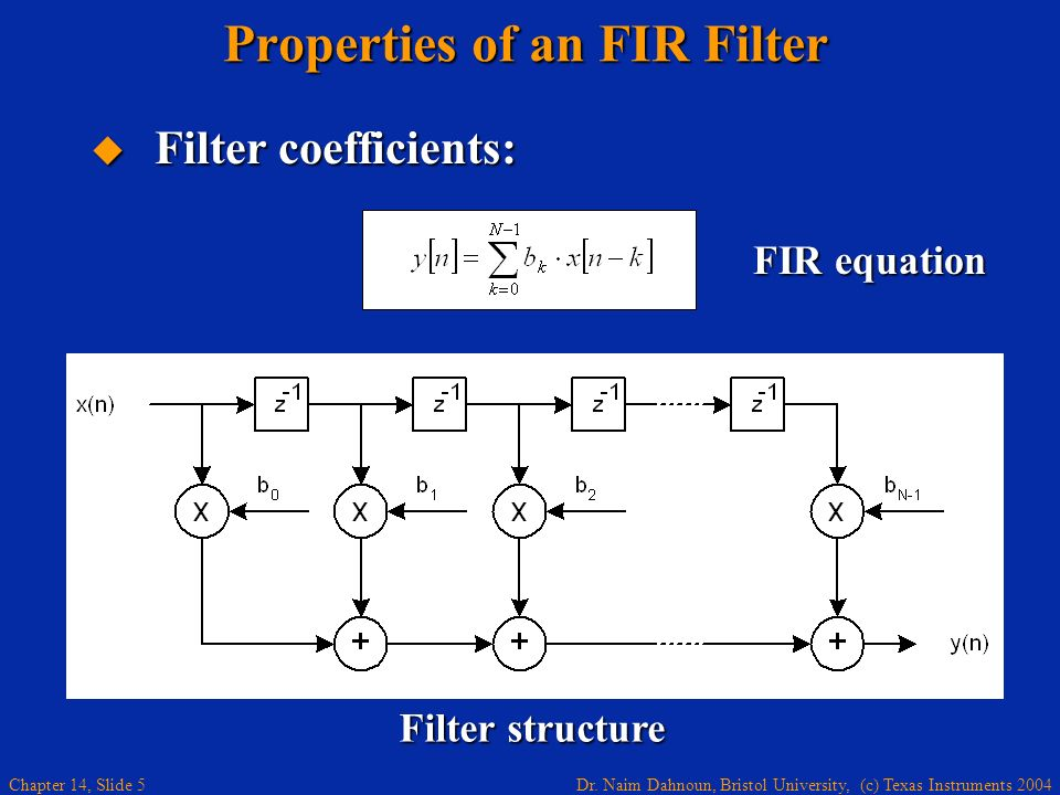 Properties of an FIR Filter