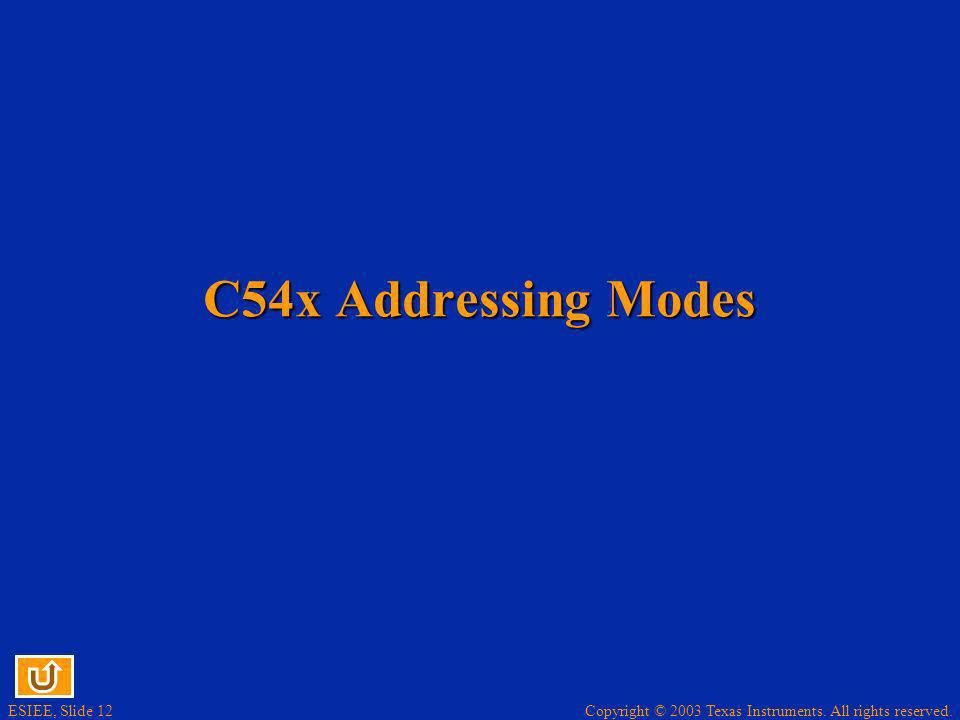 C54x Addressing Modes