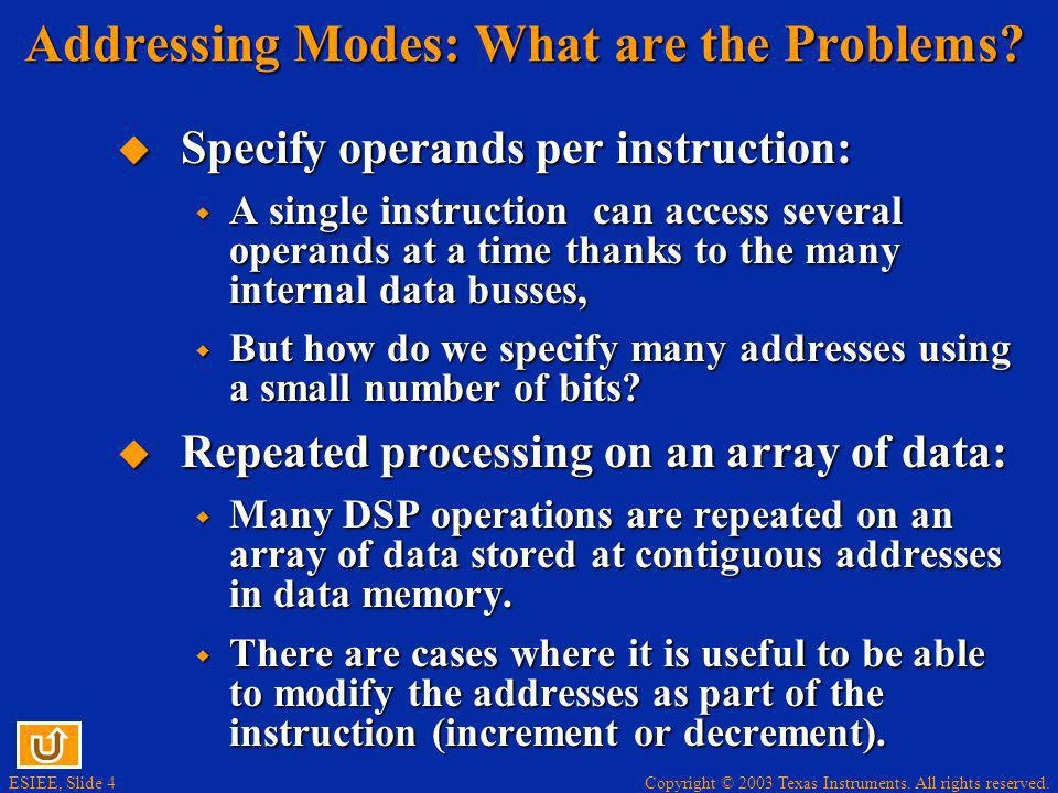 Addressing Modes: What are the Problems