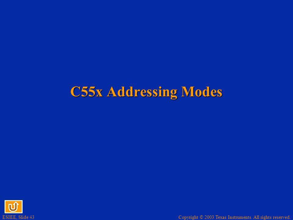 C55x Addressing Modes