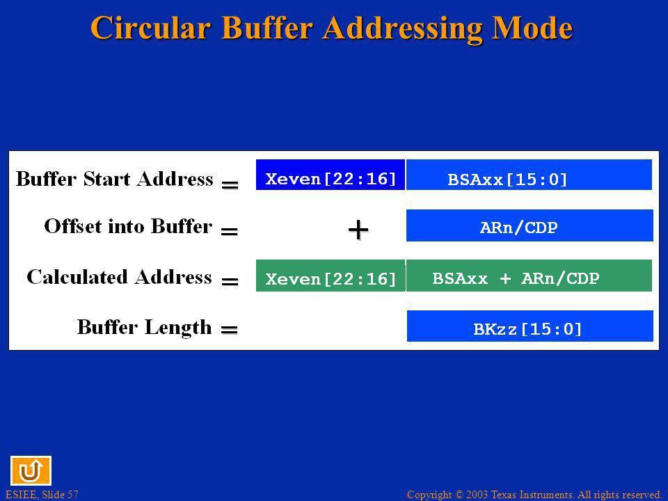 Circular Buffer Addressing Mode